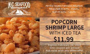 Popcorn Shrimp Large Coupon