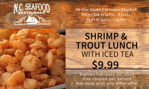 Shrimp and Trout Lunch Coupon