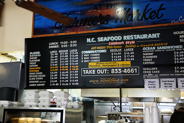 Seafood At The Nc State Farmers Market
