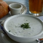Clam Chowder at Raleigh calabash seafood restaurant